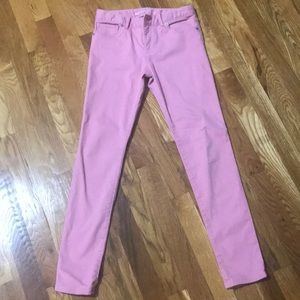 Pink jeans from the gap store super skinny